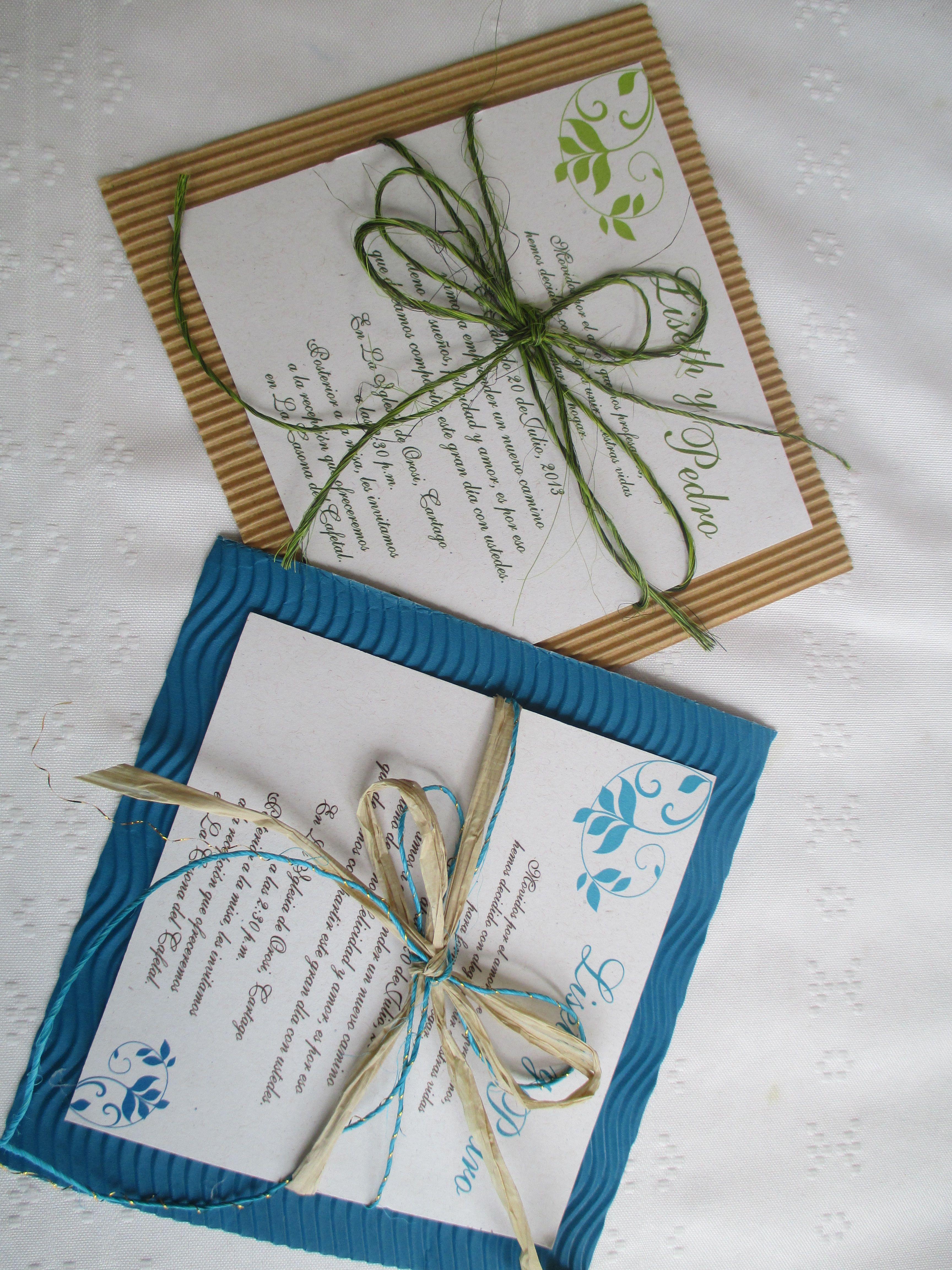 Tarjetas De Invitacion Para Casamiento Rusticas Para Bajar