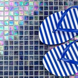 Celeste Bermuda Blue Glass Tile - Pool Tiles - Browse By Project