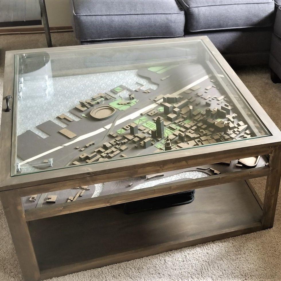 Sarah Shadowbox Table Pine Main Shadow Box Coffee Table Display Coffee Table Glass Top Coffee Table [ 980 x 980 Pixel ]