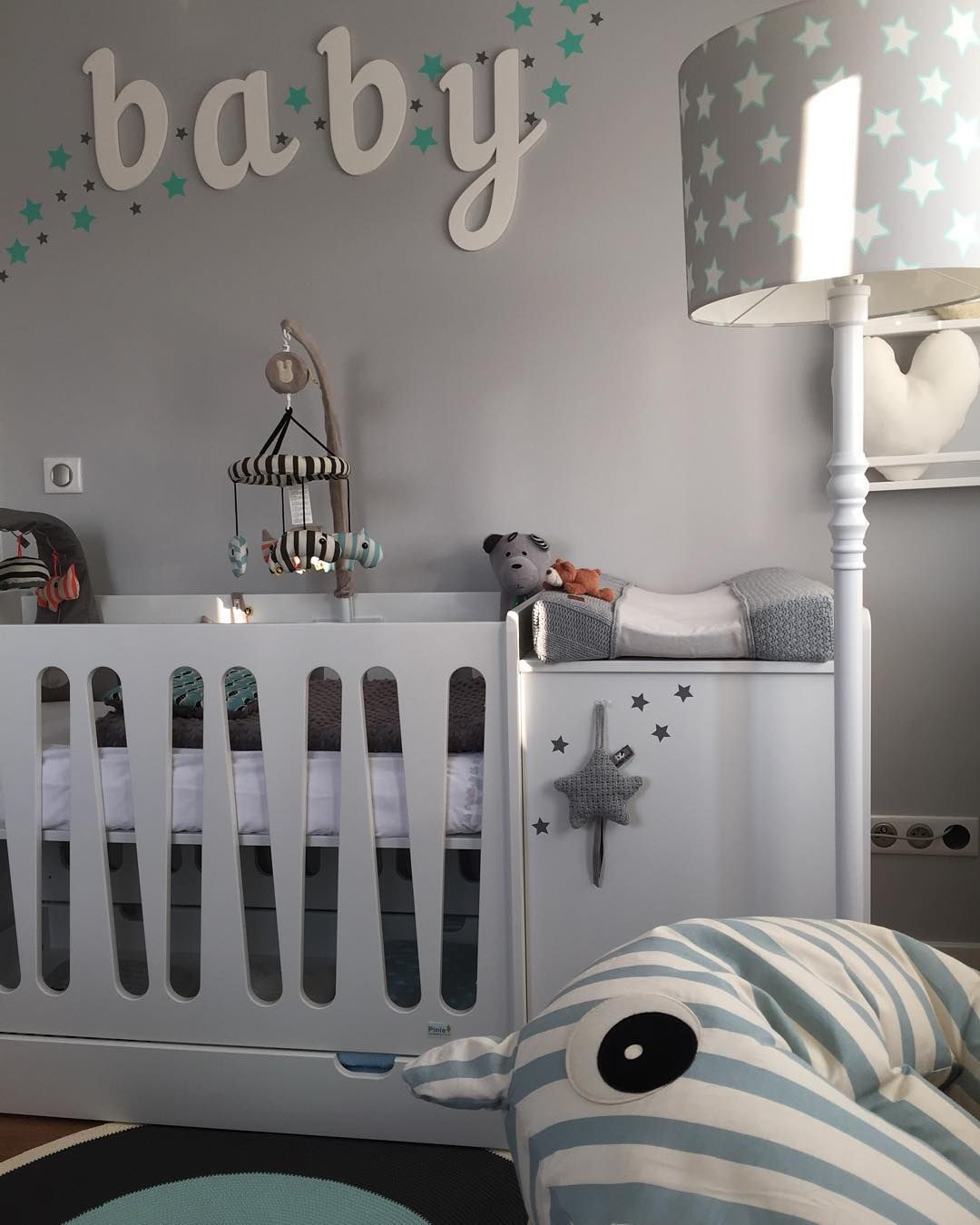 Moonlight Modern Nursery Set Cot Chest