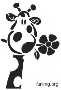 Картинки по запросу ТРАФАРЕТ ДЕТСКИЙ жираф | Силуэт жирафа ...