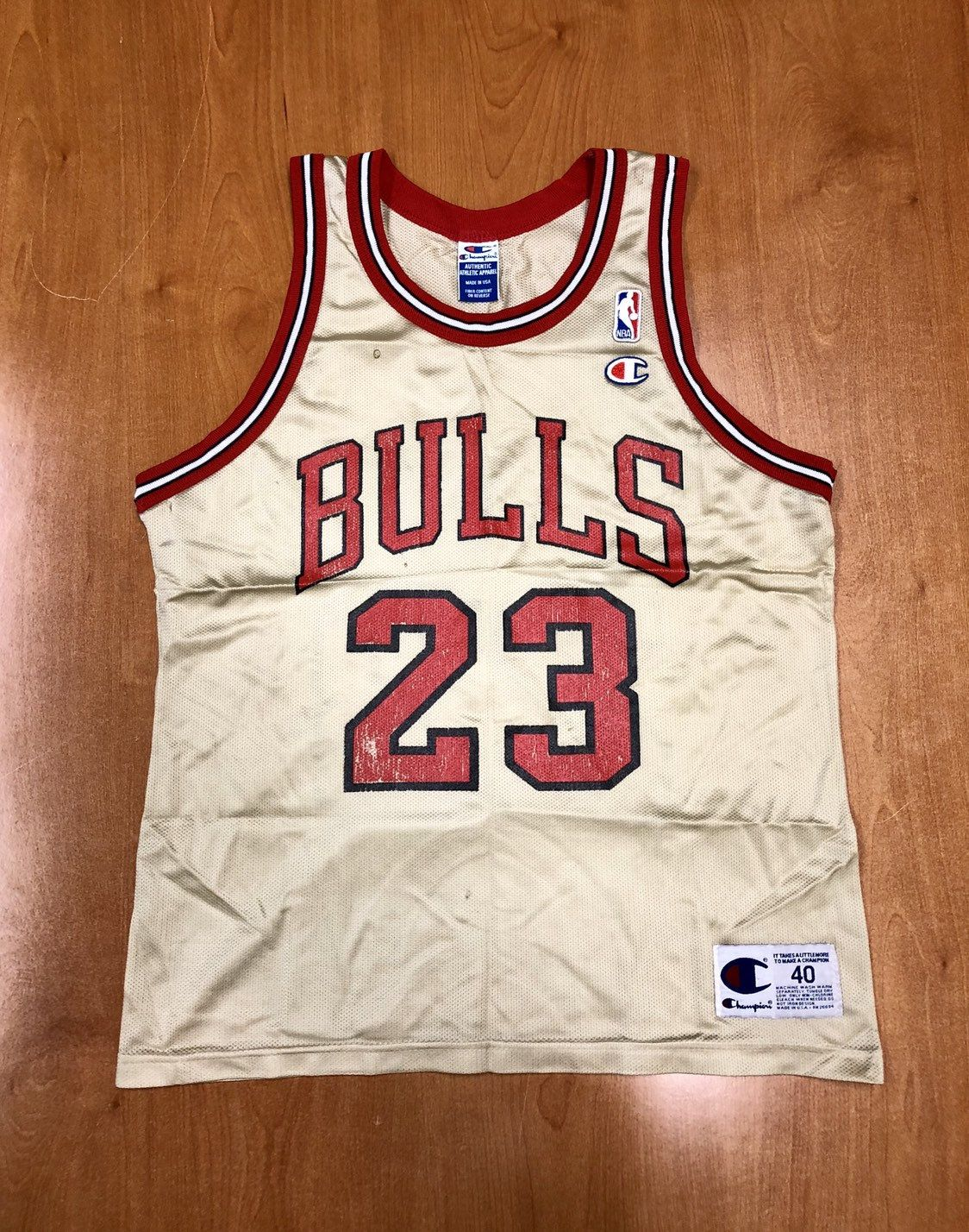 Vintage 1998 Michael Jordan Chicago Bulls Champion Gold Jersey Size 40 nba  finals hat shirt scottie pippen authentic air jumpman 45 by  BroadwayVintageLLC on ... a6c6093bc