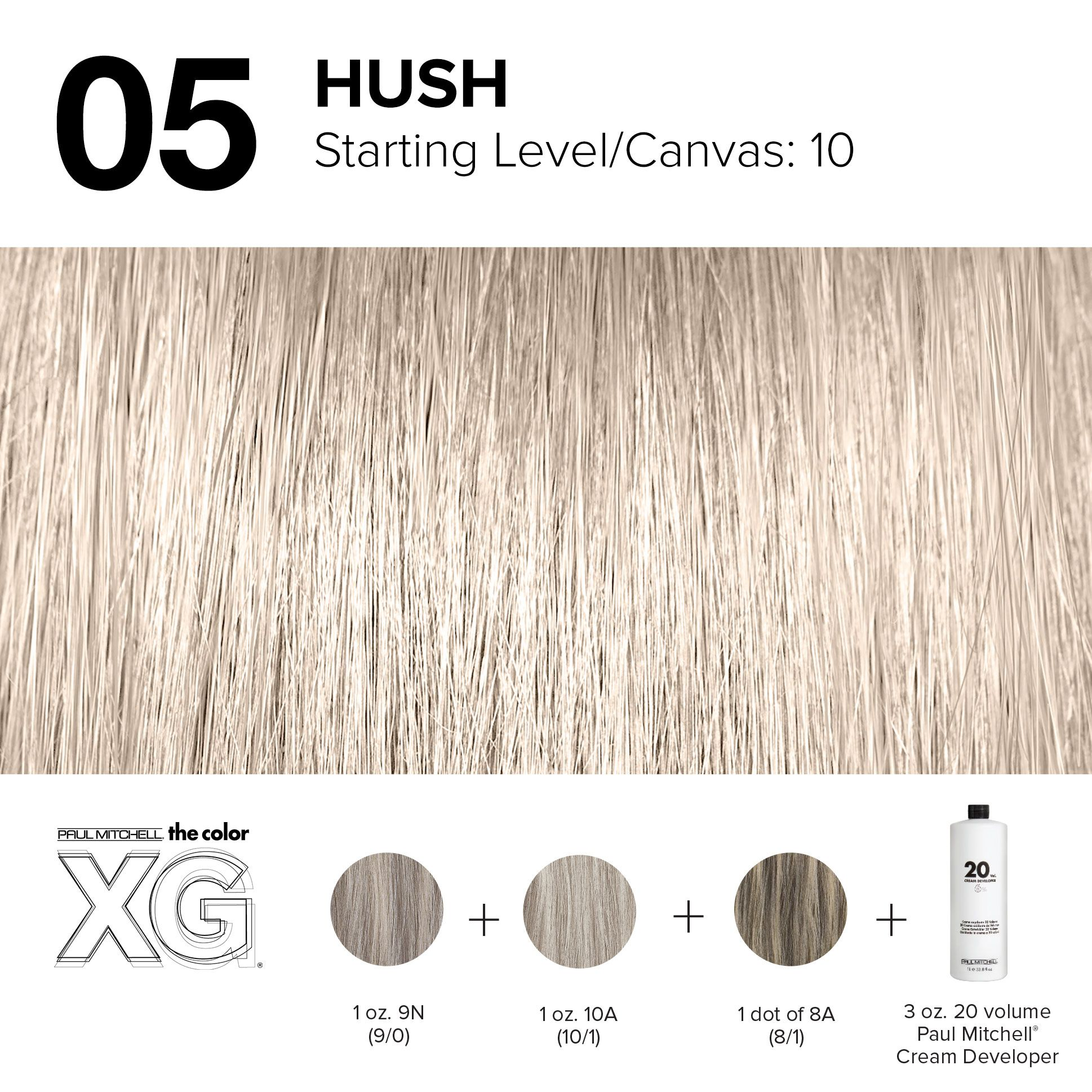 05 Hush Paul Mitchell Color Hair Color Formulas Paul Mitchell