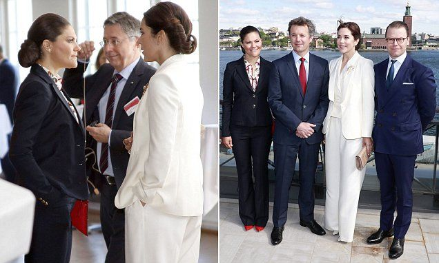 The Scandinavian Royals Put On A Smart Display As They Joined Forces At Stockholm Harbour On Monday Princess Mary Crown Princess Mary Princess Marie Of Denmark