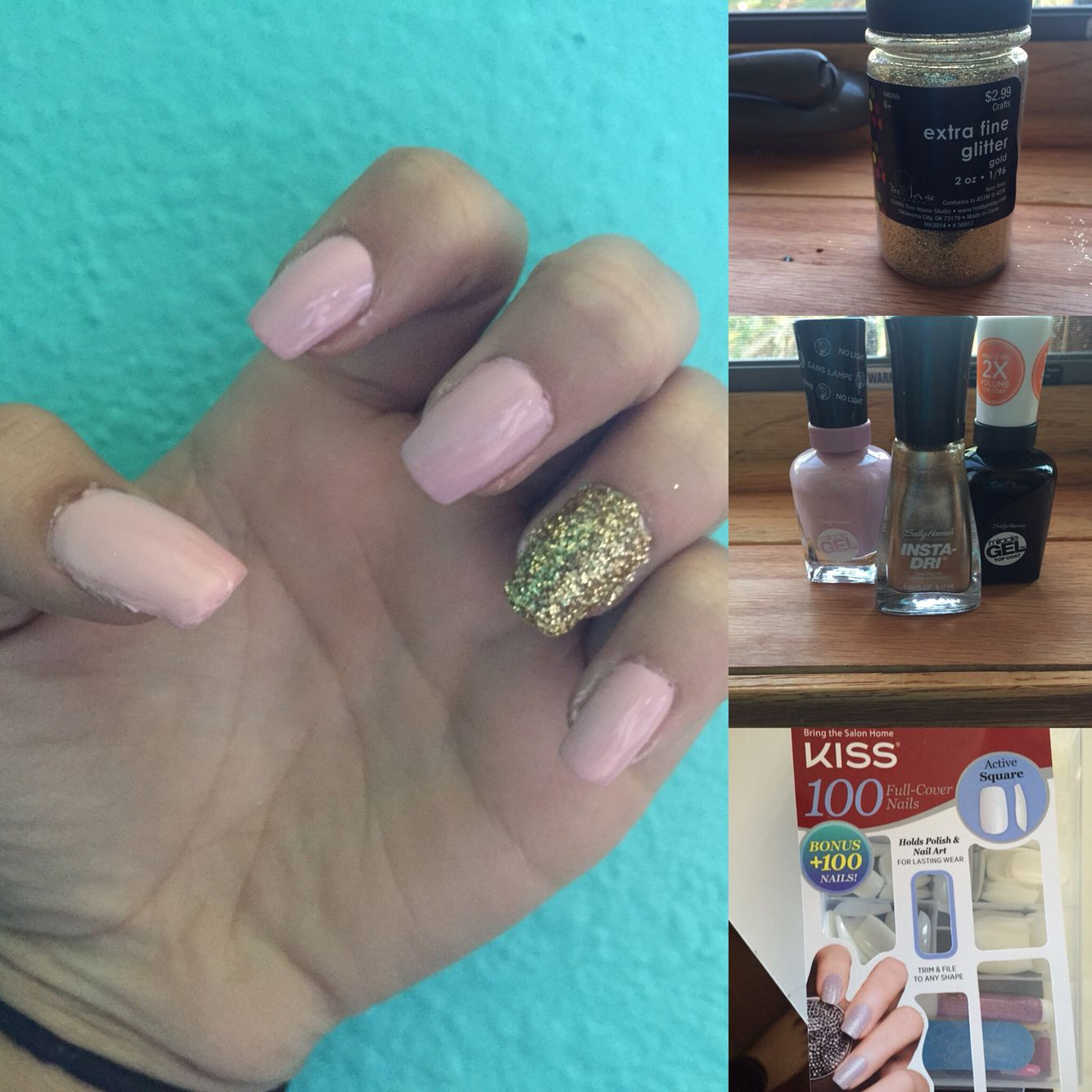 Diy Acrylic Nails Kiss 100 Nails Active Square Style Sally Hansen Miracle Gel In 160 Pinky Prom Diy Acrylic Nails Sally Hansen Miracle Gel Square Nails