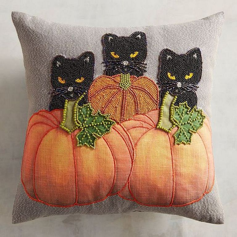 C is for Creepy Cat Pillow