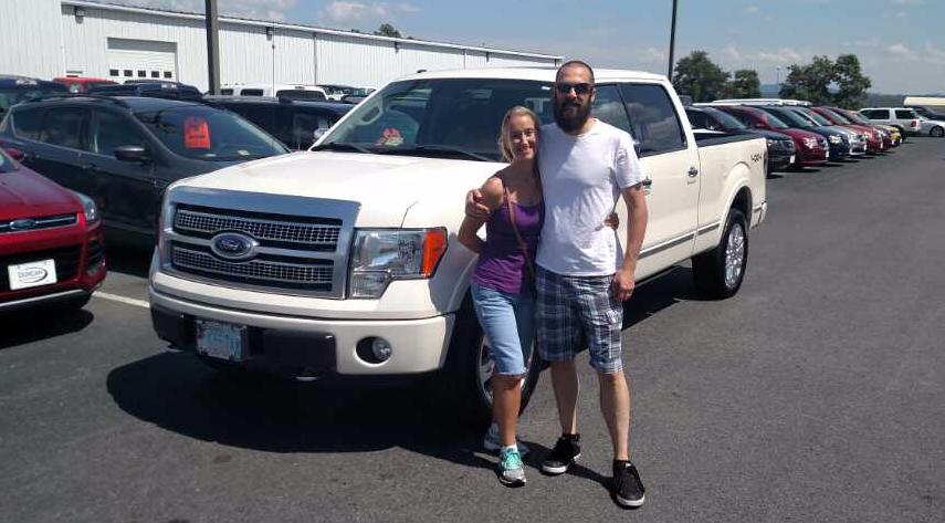 congratulations amanda and carlo on the purchase of your ford f-150