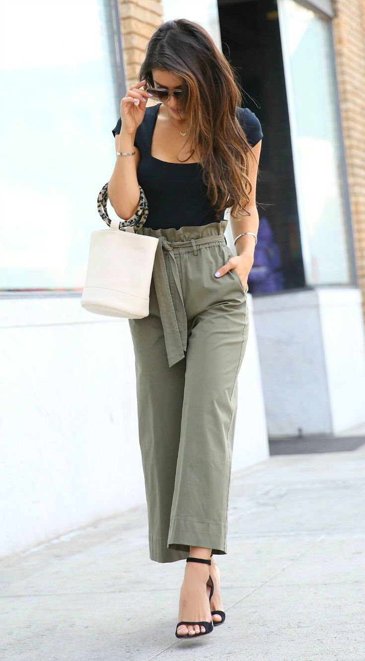High Waist Paperbag Trousers + Bodysuit (via @andeelayne ...