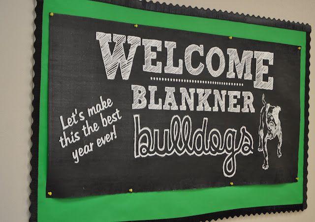 Chalkboard Bulletin Board