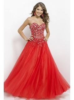 Red Poofy Prom Dresses
