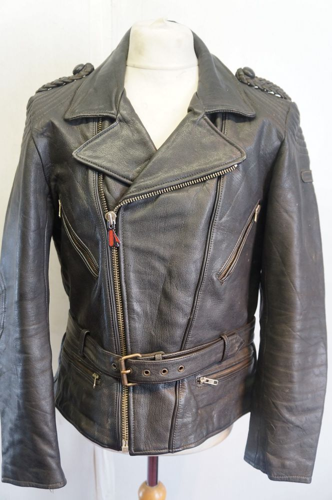 VINTAGE HEIN GERICKE LEATHER TOURING JACKET SIZE M
