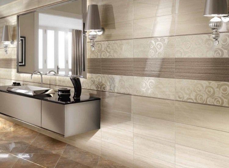 hochglanz wandfliesen in beige und mit geometrischen. Black Bedroom Furniture Sets. Home Design Ideas