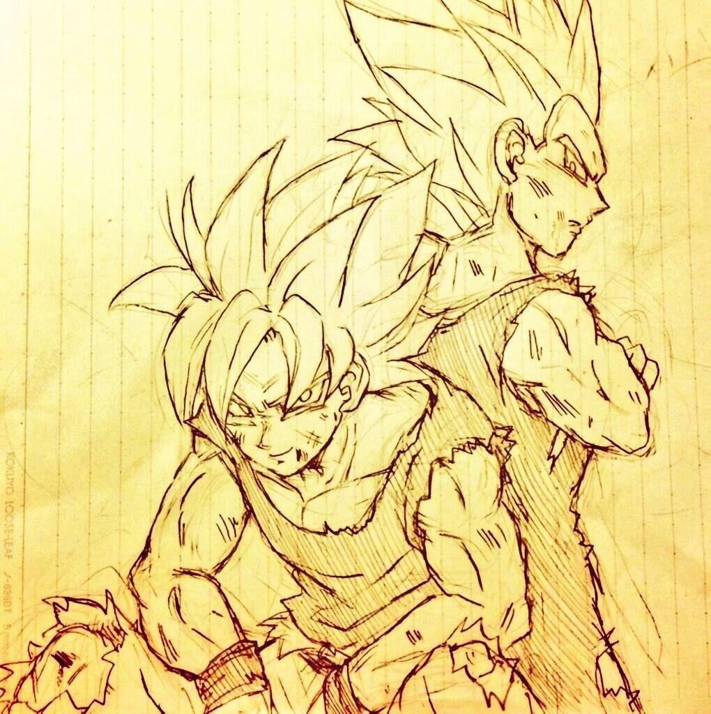 Goku and Vegeta | vegeta y goku | Pinterest | Dragon ball, Dragones ...