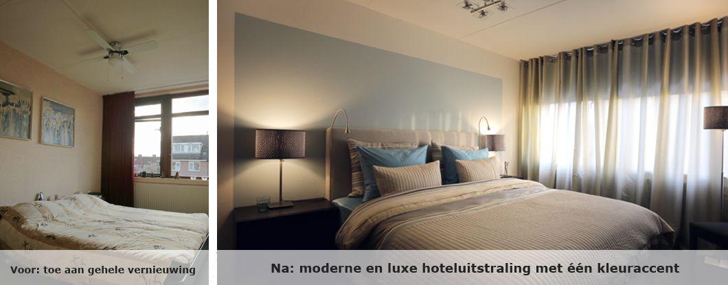 Slaapkamer met luxe hoteluitstraling bedroom pinterest cosy bedroom bedrooms and cosy for Slaapkamer deco