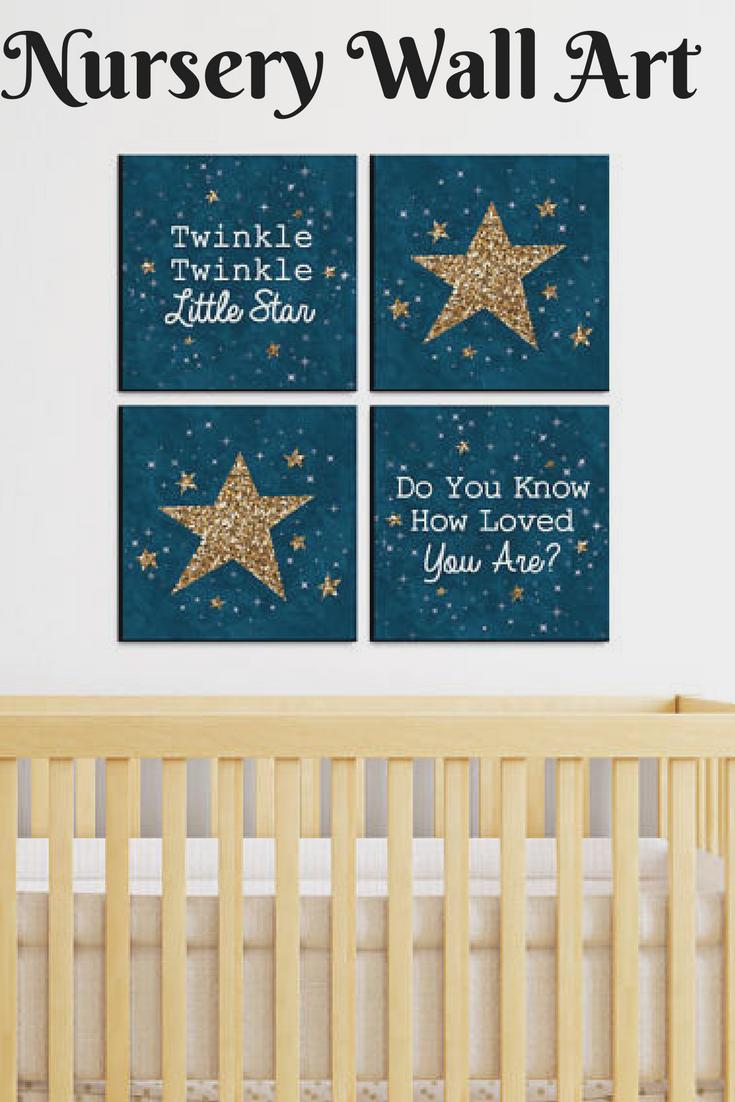 Le Little Star Nursery Wall Art Etsy Ad Homedecor