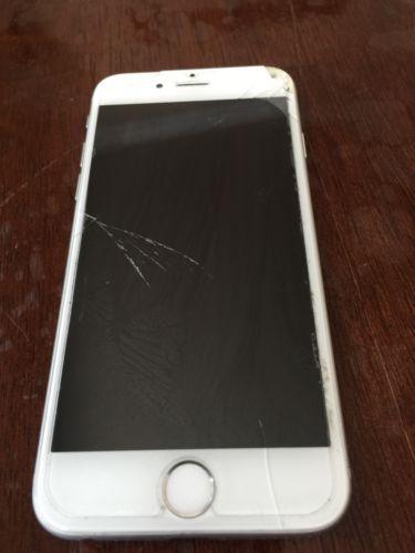 Apple Iphone 6 16gb Silver Verizon Good Working Order