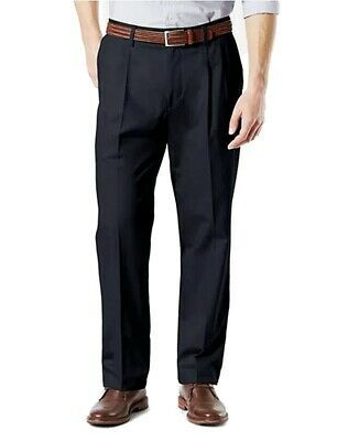 (eBay Sponsored) Dockers Mens Pants Blue Size 36X29 Classic Fit Pleated Khakis Stretch $62- #054