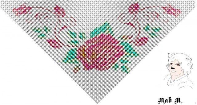 Косынка бисерная схема