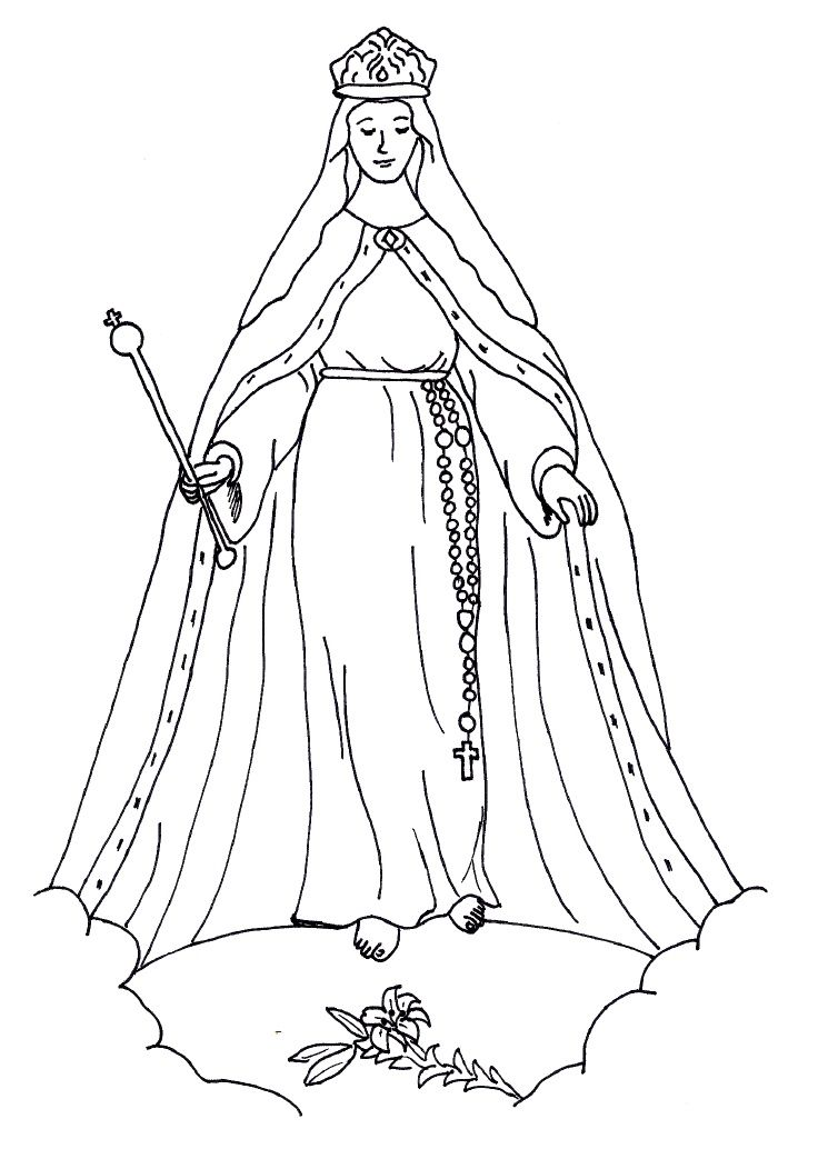 Queenship Of Mary Coloring Pages Catholic Coloring Free Coloring Pages