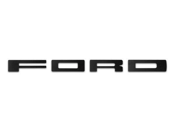 Ford Raptor Front Grille Letter Set Pc Carbon Fiber
