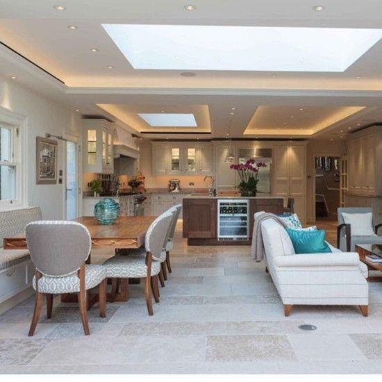 Layout Open Plan Kitchen Living Room Corner Shelf Ideas Design House Pinterest Order Housetohome Co Uk