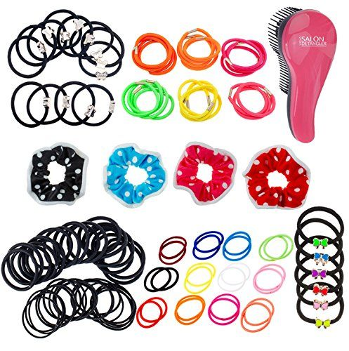 106 Hair Bands  Bobbles and Detangling Brush Set ** You can find out more details at the link of the image.