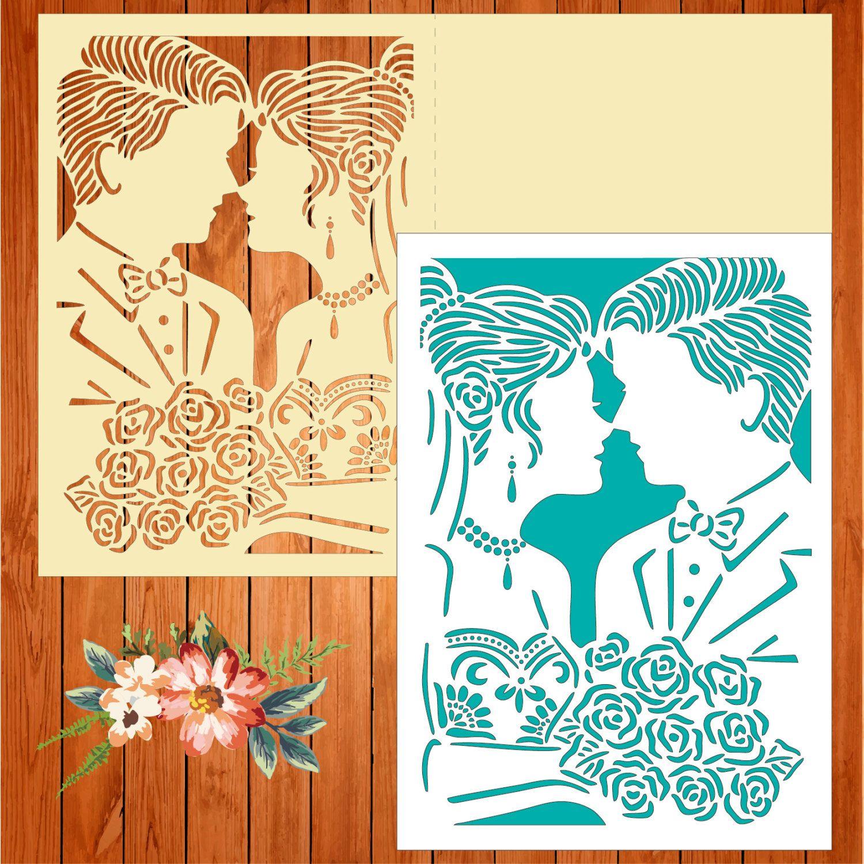 Wedding card invitation template, boyfriends, love (studio V3, svg ...