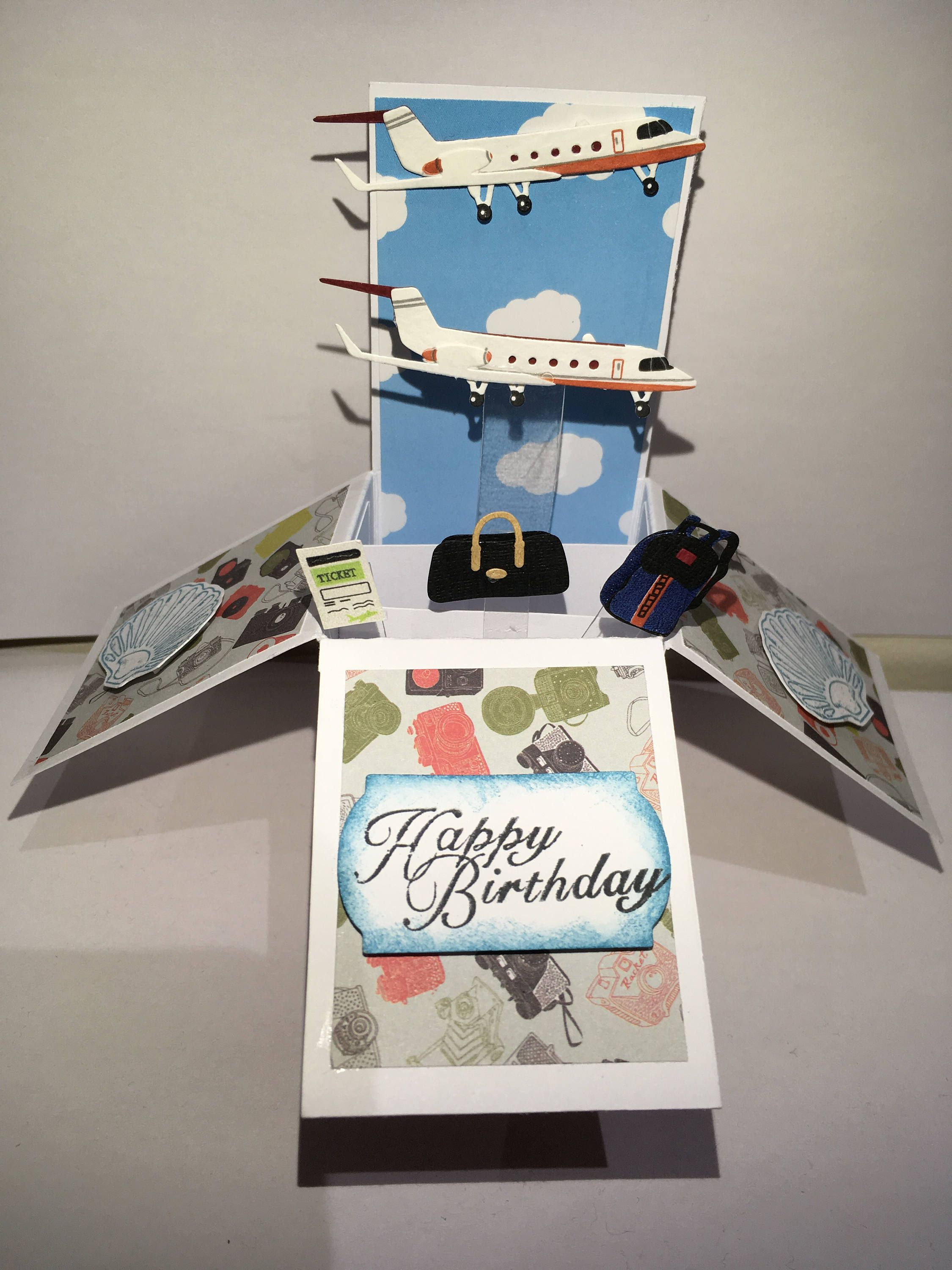 Travel Pop Up Box Card Happy Birthday Pop Up Fathers Day Pop Up Son