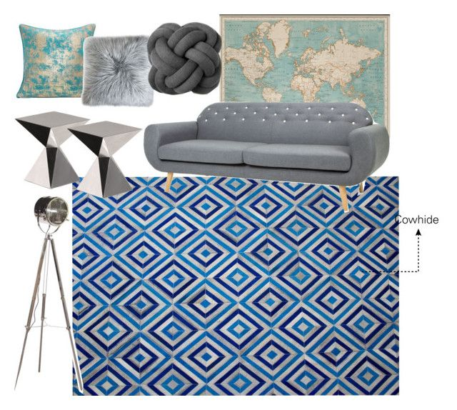 """""""Blue Diamond"""" by immar on Polyvore featuring interior, interiors, interior design, home, home decor, interior decorating, WALL, Reiss, Driade and modern"""