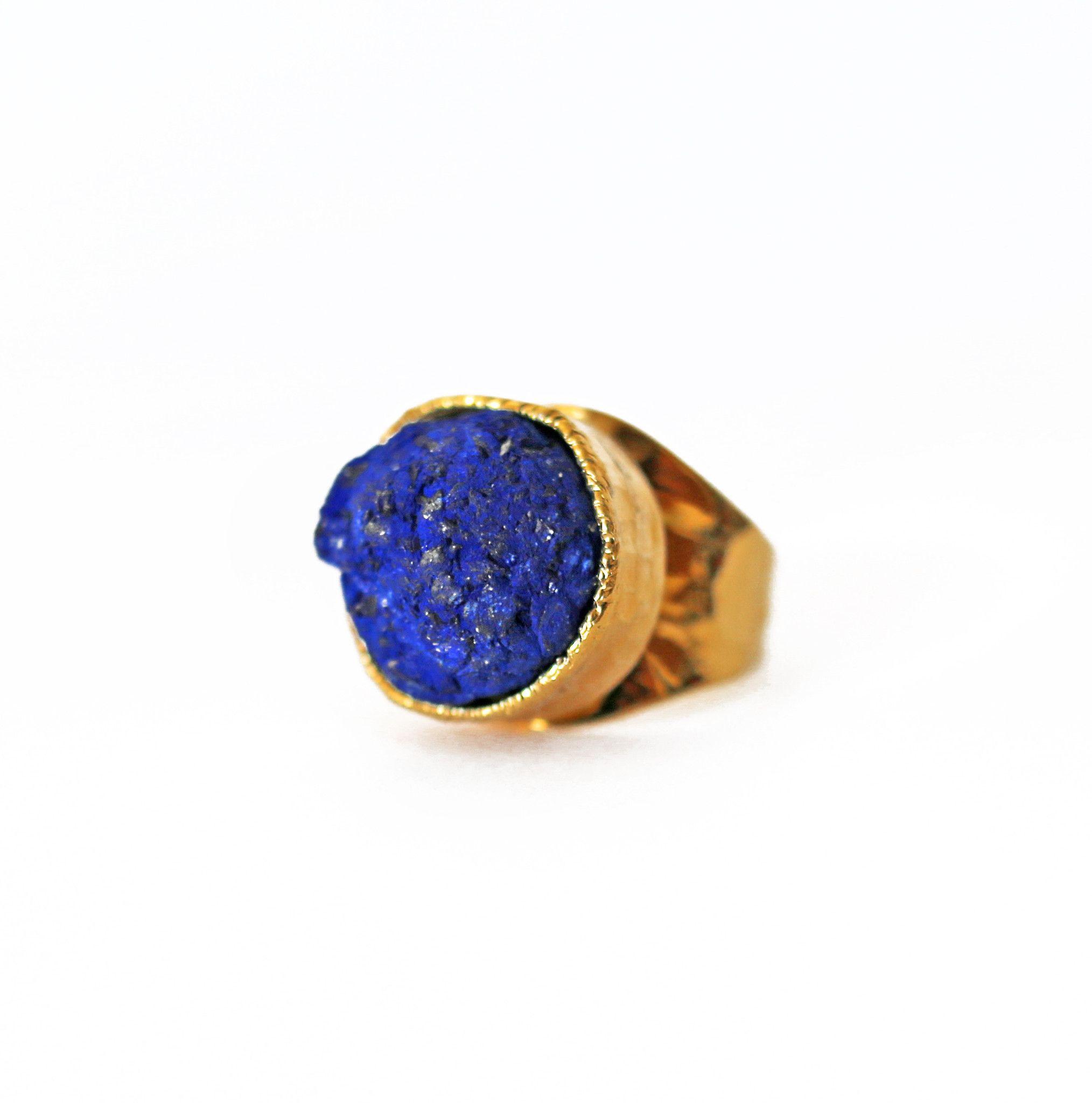 AZURITE cuff ring