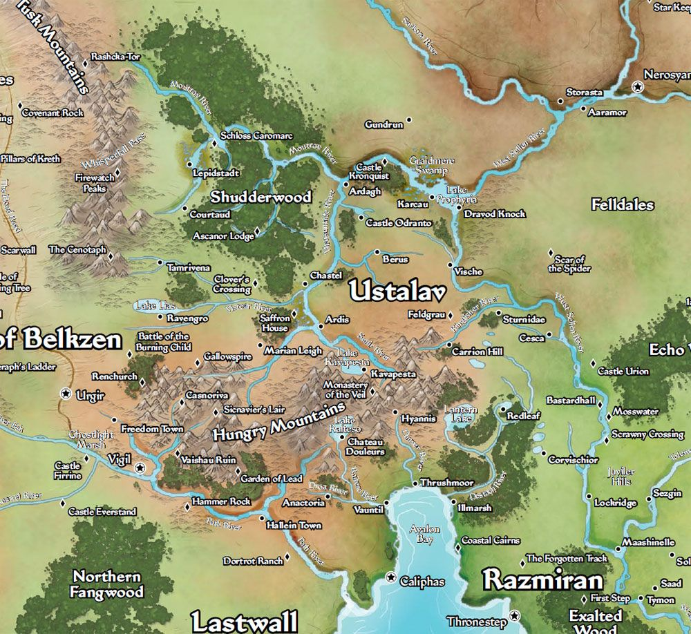 Ustalav Map Pathfinder Imgurl