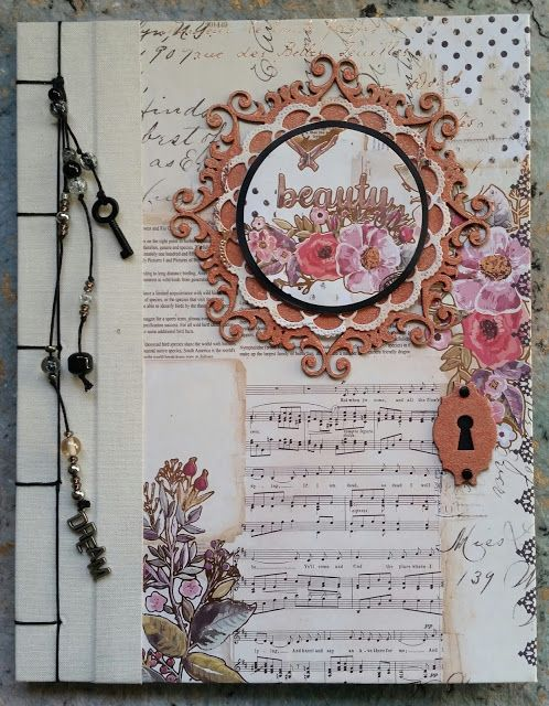 Hand Bound Journal by Corina Finley. For more details about this project, check out: http://southernchipboard.blogspot.ca/2016/10/hand-bound-journal-with-corina-finley.html. To order this amazing chipboard, visit: www.chipboard.ca