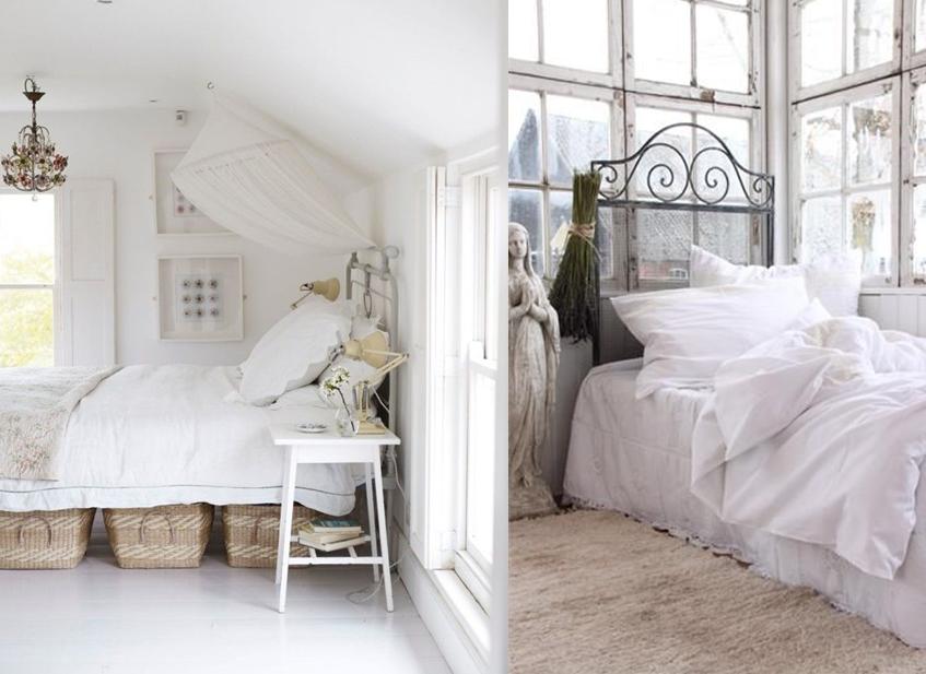 inspiration idée pour une chambre à la décoration style shabby chic ...