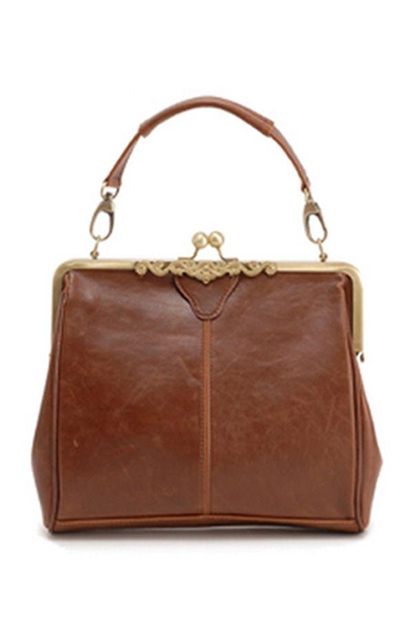 a999f18ae788 Vintage Kisslock Closure Shoulder Bag - OASAP.com | websit 4 sale