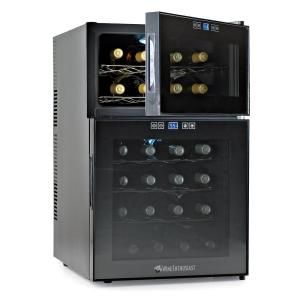 Wine Enthusiast 24Bottle Dual Zone Touchscreen Wine