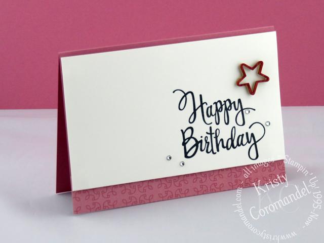Clean Simple Birthday Card Kristycoromandel Com Simple Cards Simple Birthday Cards Birthday Cards