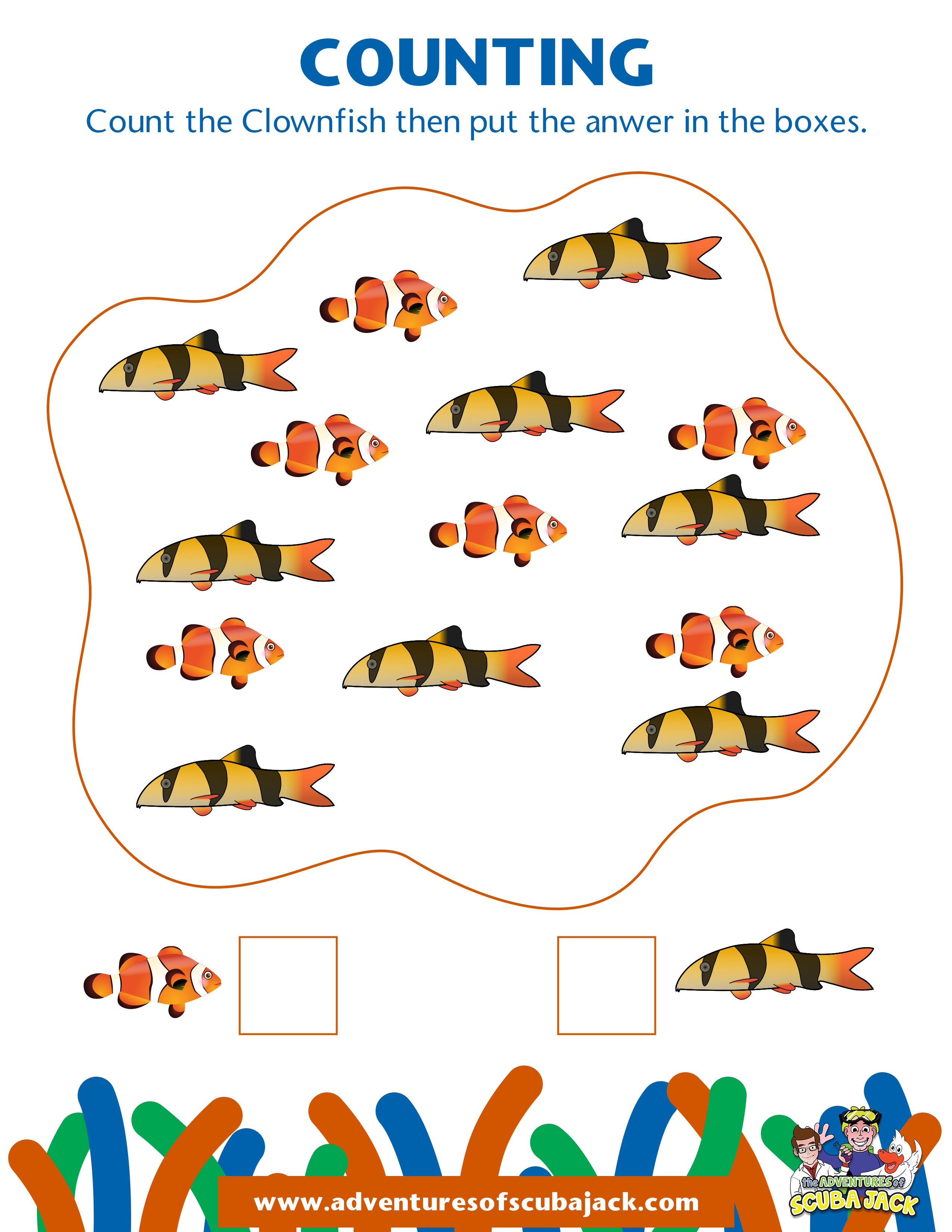 Count The Clown Fish In