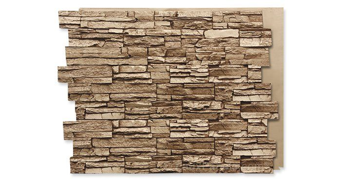 faux stone panels and siding  add a natural look for less