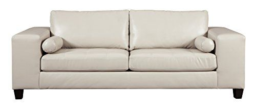 ashley faux leather sofa reviews black brown clubber sleeper sectional review furniture signature design nokomis contemporary queen size mattress