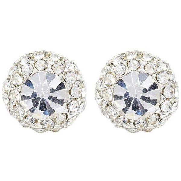 River Island Silver tone mega rhinestone stud earrings ($10) ❤ liked on Polyvore featuring jewelry, earrings, silver, women, sparkly earrings, silvertone jewelry, river island, holiday jewelry and holiday earrings