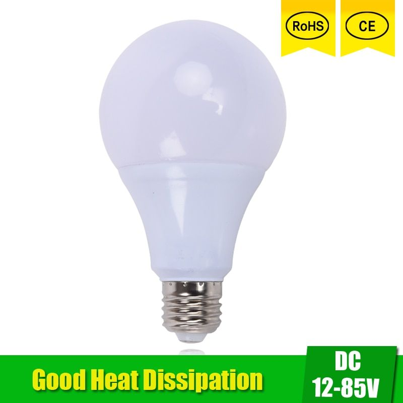 Universe Of Goods Buy Led Bulbs Dc 12v 24v 36v 48v E27 3w 5w 9w 12w 15w Led Lamp 6000k Smd 2835 Home Camping Hunting Emergency Outdoo Led Bulb Bulb Led Lamp