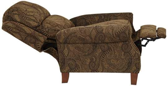 Swell Beaumont Warm Brown Paisley Push Thru Arm 3 Way Recliner Machost Co Dining Chair Design Ideas Machostcouk