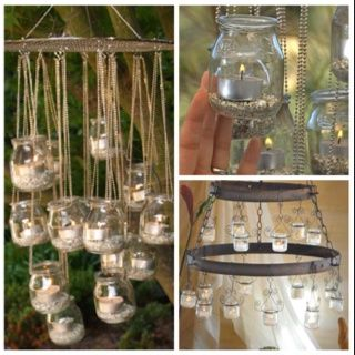Perfect Baby Food Jars   Chandeliers Cool Idea Reuse Old Baby Jars Amazing Pictures