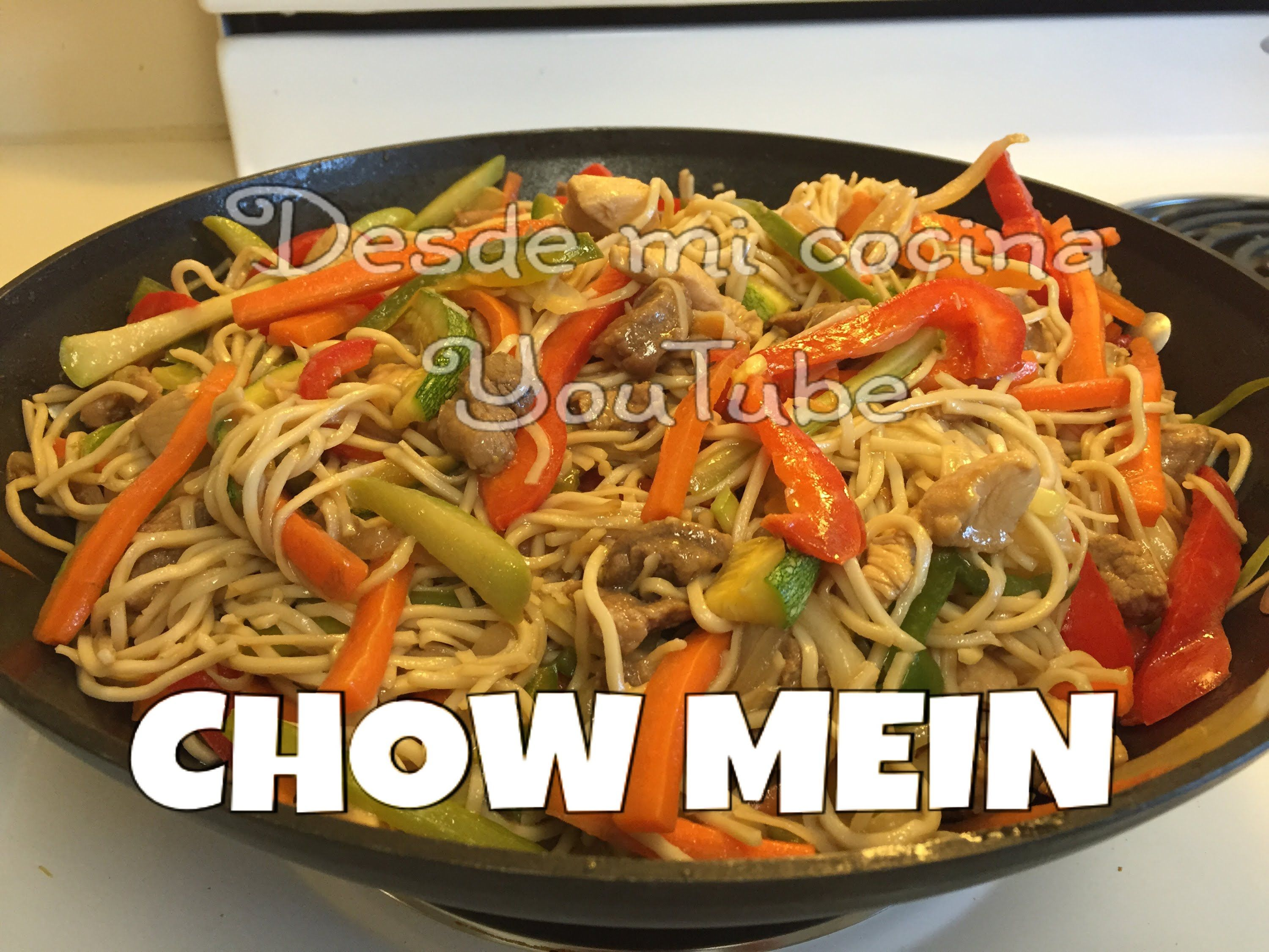 Como Cocinar Fideos Chow Mein Mixto Facil Chicken Pork Chow Mein Easy To Do