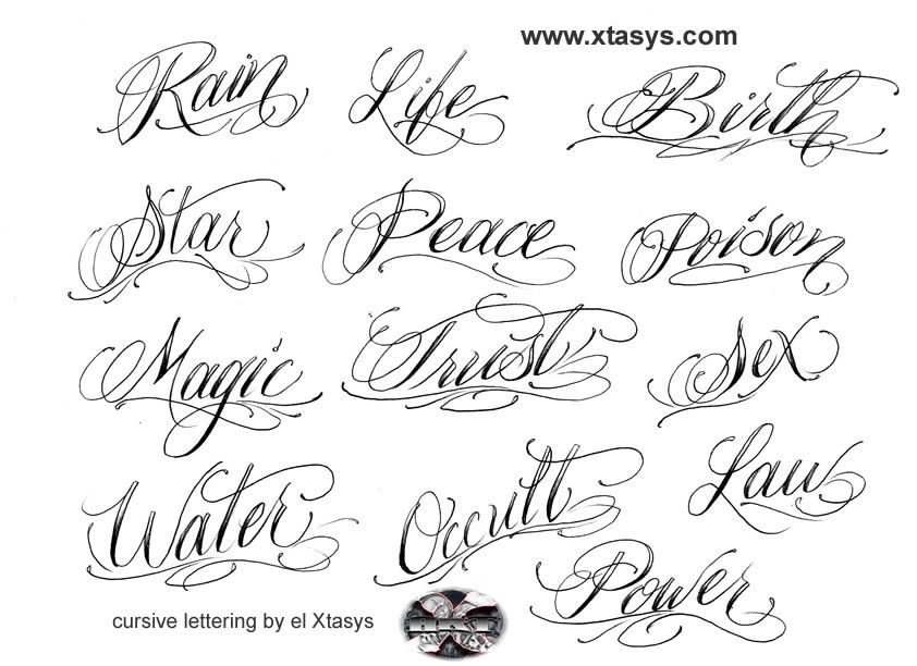 letter styles for tattoos
