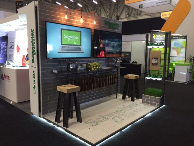 Modern Exhibition Stand Designs : Custom design for small stand m with modern industrial look