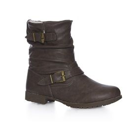 Wide Fit shearling-lined ankle boot