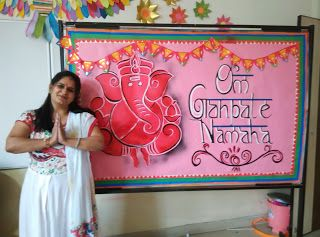 Ganesh Chathurthi School Board Decoration Display Boards For