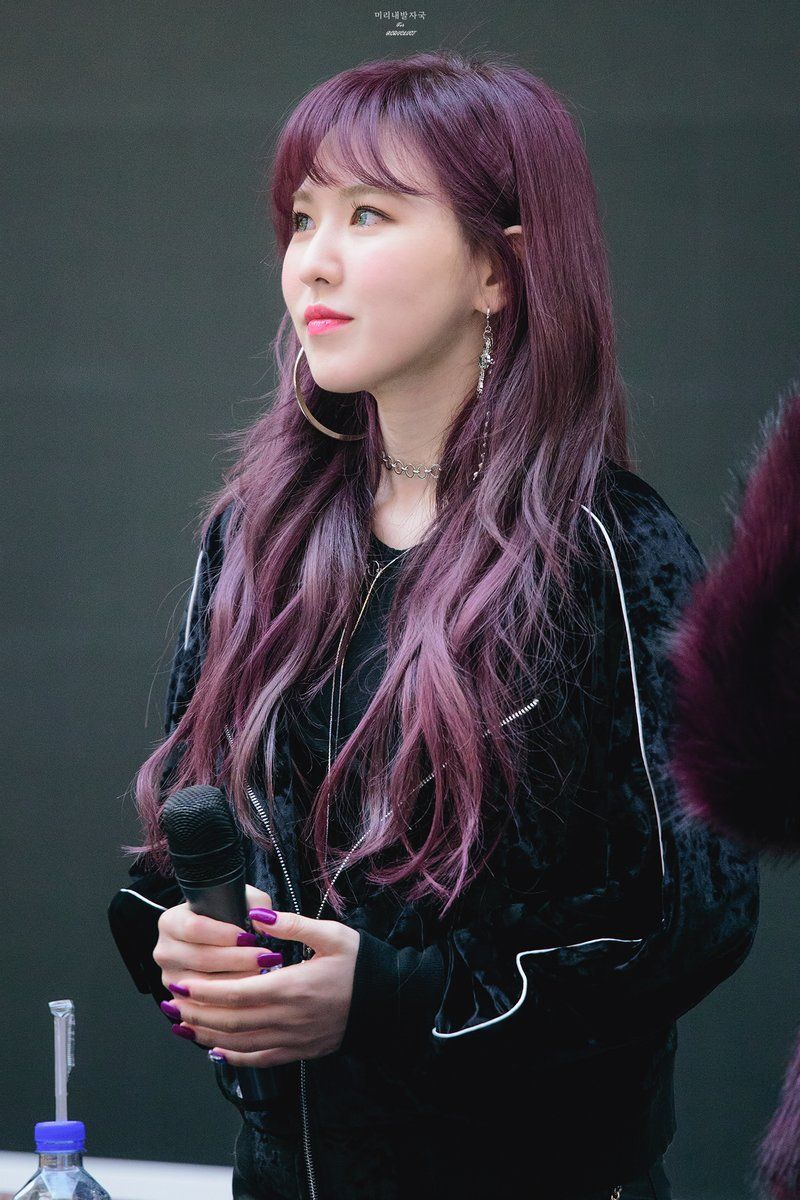 Dedicated To Female Kpop Idols Purple Hair Red Velvet Velvet Hair