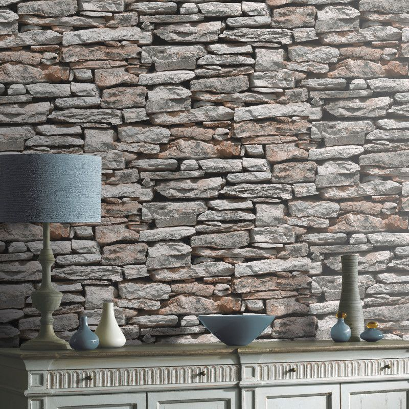 Ways To Use Stone Effect Wallpaper In The Kitchen Stone Wallpaper Grey Stone Wallpaper Brick Effect Wallpaper